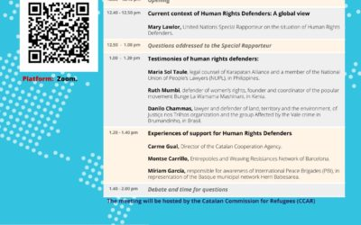 """Virtual meeting """"Human Rights Defenders facing the pandemic: threats, challenges an resistances"""